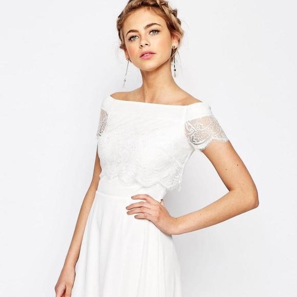 Asos White Lace Dress 12
